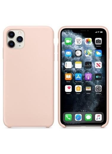 Bludfire Apple iPhone 11 Pro (5.8'') Kılıf Liquid Lansman Silikon Kum Pembesi Pudra